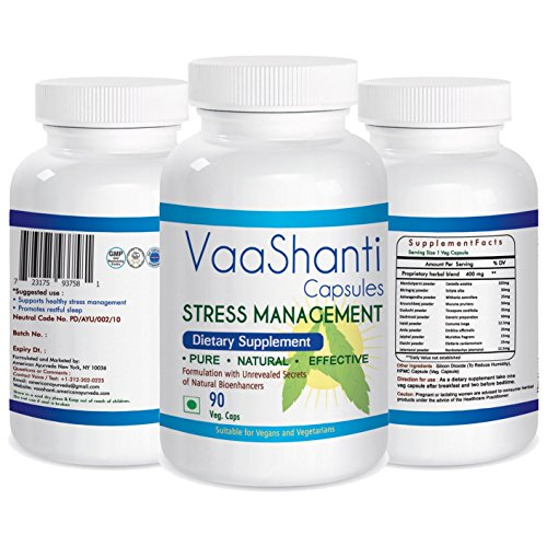 Natural Herbal Remedies Strongest and Best Sleep Aid VaaShanti 90 Veg Capsules Sleeping Pills for Apnea Cure Insomnia Deprivation Medicine Over The Counter for Adults Non Habit Forming Non Drowsy