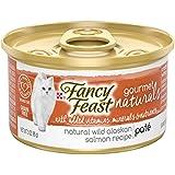 Purina Fancy Feast Gourmet Naturals Grain Free Pate Wild Alaskan Salmon Recipe Adult Wet Cat Food - (12) 3 oz. Cans