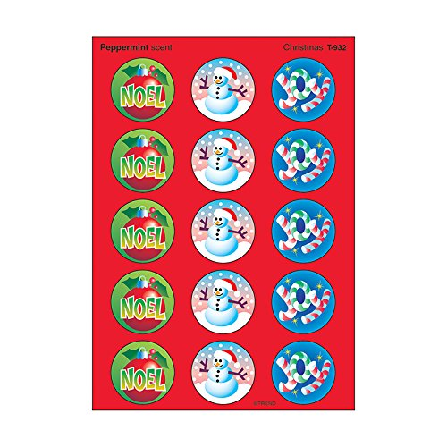 Trend Enterprises Christmas Large Roundstinky Stickers (T-932)