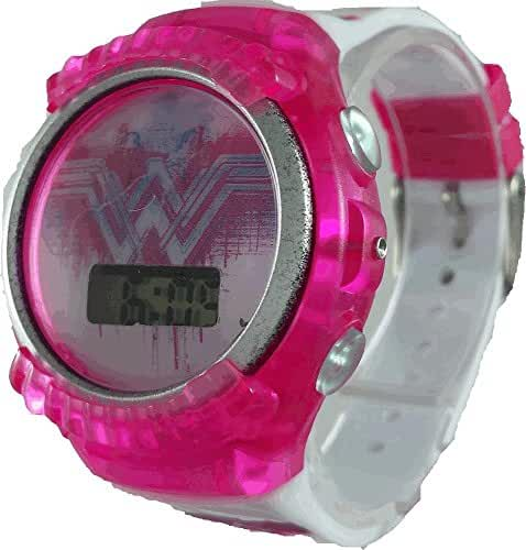 Wonder Woman Girl's Pink Light Up Watch (BVS4079)