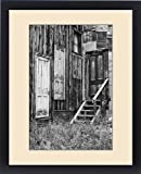 Framed Print of USA, Colorado, St. Elmo. Weathered doors in wood building