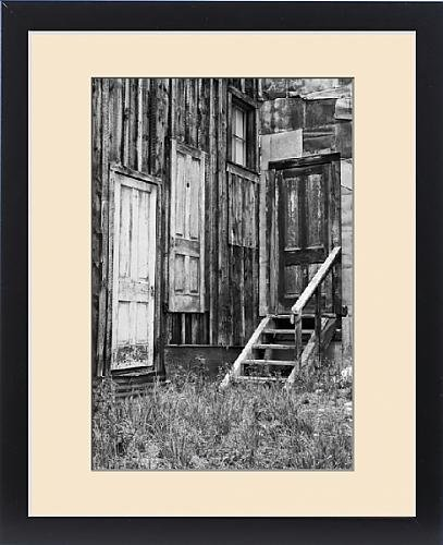 Framed Print of USA, Colorado, St. Elmo. Weathered doors in wood building by Fine Art Storehouse