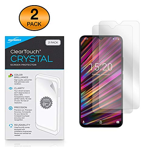 Boxwave Cleartouch Screen Protector - BoxWave Umidigi F1 Screen Protector, [ClearTouch Crystal (2-Pack)] HD Film Skin - Shields from Scratches for Umidigi F1