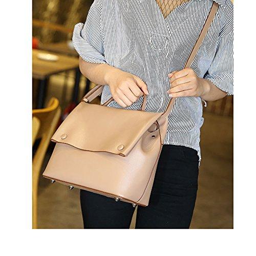 Bolso del Versión Cowhide Bolsa hombro Mensajero de de Tide Bolsas Moda Femenino Bag Coreana Nueva ZQ Bolso Ocasional vaYq8
