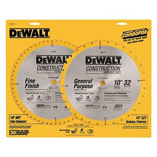 DeWalt DW3106P5 10 inch Saw Blade Combo Pack