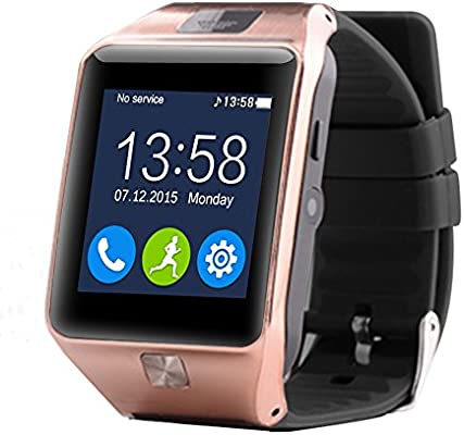 aiwatch Smart Watch Z20 Bluetooth muñeca Smart Relojes con FM vídeo, Facebook, podómetro, Twitter, WhatsApp Sync para iOS y Android/LG/Samsung/Huawei/Xiaomi ...