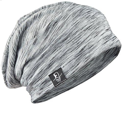 FORBUSITE - Gorro de Punto - para Hombre B079-Light Grey