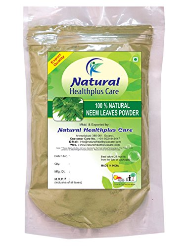 100% Natural Neem Leaves (AZADIRACHTA INDICA) Powder for PIMPLE FREE CLEAR SKIN NATURALLY by Natural Healthplus Care (1/2 lb / 8 ounces / 227 g) (Neem Powder Acne)