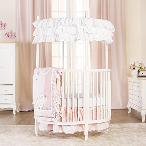 Dream On Me Sophia Posh Circular Crib In White