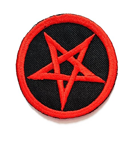 """2.4"""" X 2.4"""" Red Star Pentagram Music Band patch logo jacket t-shirt Jeans Polo Patch Iron on Embroidered Logo Sign Badge music patch by Tour les jours shop"""