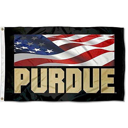 Purdue USA Flag Patriotic College Flag