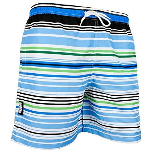 1545b3629ed5e GUGGEN Men's swimming trunks swim shorts Striped *High Quality Print* 60%OFF