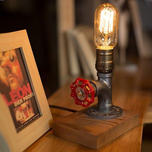 Vintage Desk Lamp,Retro Industrial Desk Light Iron Pipe Table Lamp