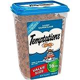 TEMPTATIONS Classic Halloween Cat Treats, Savory Salmon Flavor 16 oz. Tub