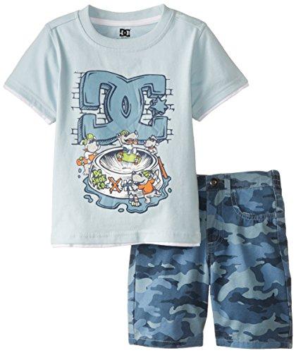 DC Shoes Co Little Boys' Tank Top with Shorts Set, Blue, 4T