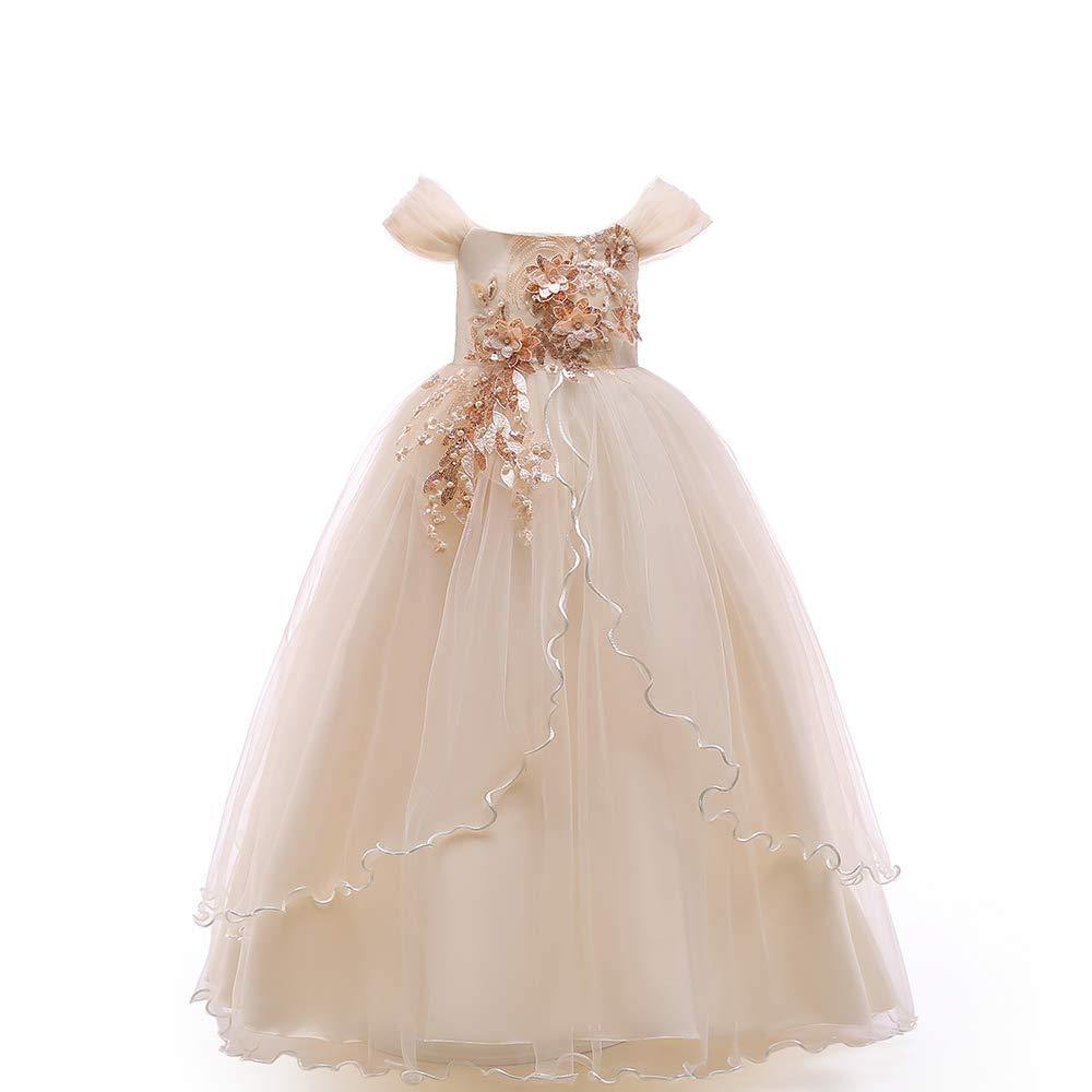 2f1f066d38 Vestido De Los Niños Para La Boda Boda Boda De Las Muchachas Pettiskirt  Vestido Largo De La Muchacha Del Cordón De Tulle Vestido Elegante Del  Vestido Formal ...