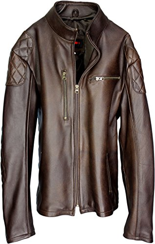 Triumph Lambskin Hand Leather Racer Pdcollection Jacket Men's Cafe p5R6wUq