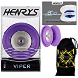 Henrys VIPER YoYo (Purple) Professional Ball Bearing YoYo +Instructional Booklet of Tricks & Travel Bag! Pro YoYos For Kids and Adults!