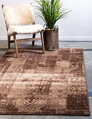 Unique Loom Autumn Collection Casual Solid Vintage Warm Toned Brown Area Rug (8′ 0 x 10′ 0)