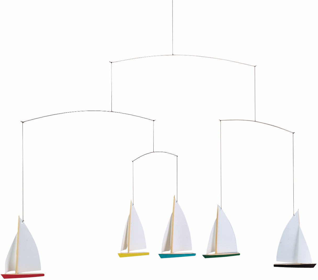 Flensted Mobiles Dinghy Regatta/5 Hanging Mobile - 26 Inches Beech Wood