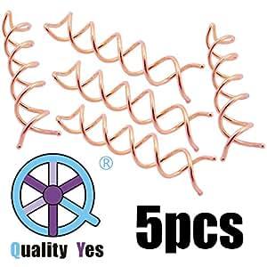 QY 5PCS Pink Gold Color Spin Pin Sleek Bun Messy Bun Maker Simple Style Mini Pin Hair Updo Accessory
