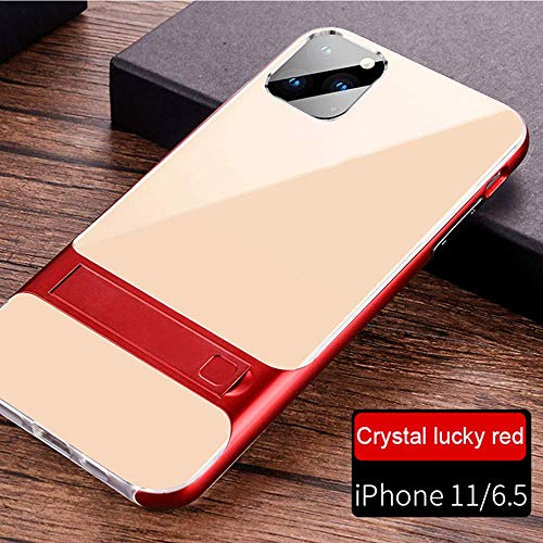 Case Compatible with iPhone 11Pro Max Phone Cover Providing Protection Smart Phone PC+TPU Kickstand Shell (iPhone 11Pro Max, red)