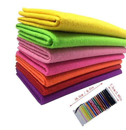 levylisa 7pcs (45 x 45 cm)1.4mm Thick Assorted Soft Felt Fabric,Pure Felt Bundle, Blend Felt Squares,Craft Felt Nonwoven Sheet,Multi-Color Non Woven Felt Fabric Felt Assortment Pack,Felt Toys (B)