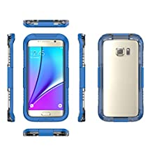 "Happy Hours - Samsung Galaxy S7 Edge 5.5"" Waterproof PC Case / PET Touchscreen Full-wrapped Shockproof Phone Protective Cover Shell for 5.5 Inch Apple Cellphone Protection(Blue)"