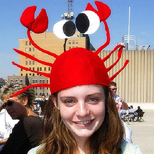 Cute Costumes For Christmas Parties (Gotd Xmas Christmas Funny Cute Red Crab Hat Party Costume Free Size Gift Present (Red))