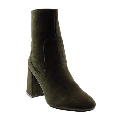 Angkorly Damen Schuhe Stiefeletten schick Blockabsatz