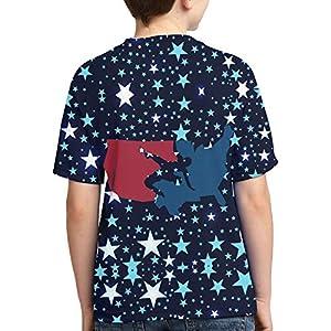 John J Littlejohn Usa Wrestling Boy'S T-Shirts 3D Printed T-Shirt for Toddlers Kid'S Short-Sleeve Casual Tee