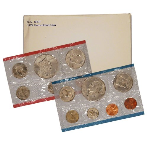 1974 Us Mint - 1974 United States Mint Uncirculated Coin Set in Original Government Packaging