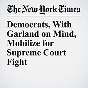 Democrats, With Garland on Mind, Mobilize for Supreme Court Fight