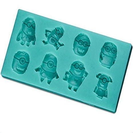 CZY Anyana Minions - Molde de silicona para azúcar, decoración de pasteles, decoración de