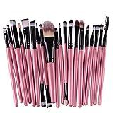 Ninasill Hot Brush, Exclusive 20pcs/set Makeup Brush Set Tools Make-up (Black)