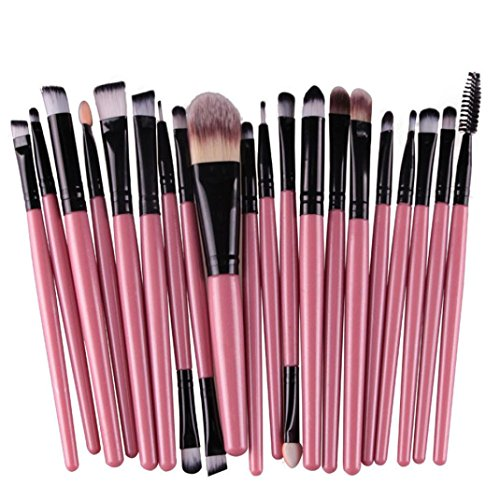 Ninasill Hot Brush, Exclusive 20pcs/set Makeup Brush Set Tools Make-up (Black)