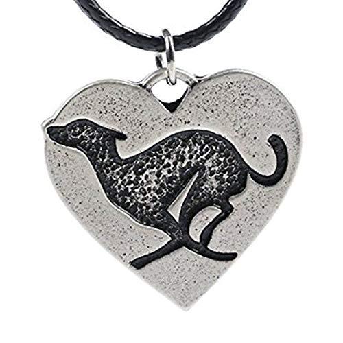 (Paw Paw House Elegant Sitting Italian Greyhound Dog Necklace Animal Pendant I Love My Dog Memorial Gift Greyhound Rescue 1252 (1259))