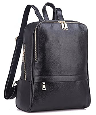 Coolcy Hot Style Casual Women Real Genuine Leather Backpack Fashion Shoolbag Camping Bag Shoulder Bag