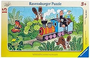 Ravensburger 06349 - Maulwurf als Lokführer, 15 Teile Rahmenpuzzle