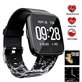 HitTopss Waterproof Fitness Tracker Sport Watch Smart Bracel...