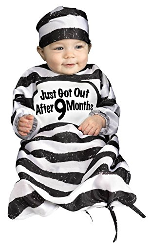 Fun World Infant Baby Bunting Costume Time Out Tot 0-9 Months, Multi, Standard