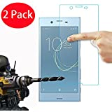2 Pack - Sony Xperia XA1 Tempered Glass, FoneExpert® Tempered Glass Crystal Clear LCD Screen Protector Guard & Polishing Cloth For Sony Xperia XA1