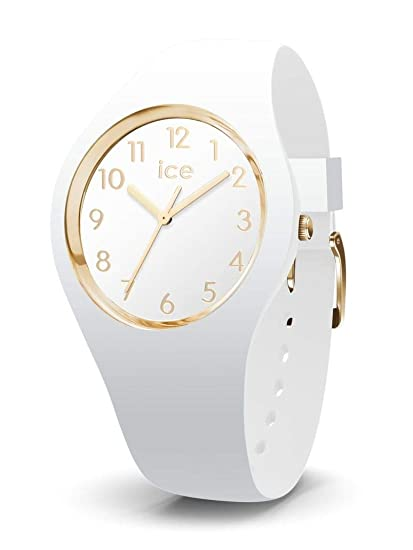 Ice-Watch - ICE glam White Gold Numbers - Reloj bianco para Mujer con Correa