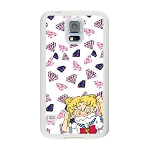 Generic Fashion Hard Back Case Cover Fit for Samsung Galaxy S5 Cell Phone Case white Sailor Moon SEU-4107558
