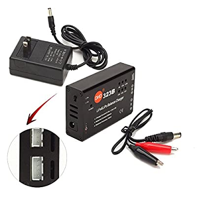 HOBBYTIGER 2S 3S LiPo LiFe Battery Balance Charger with Power Supply for RC Hobby Airsoft