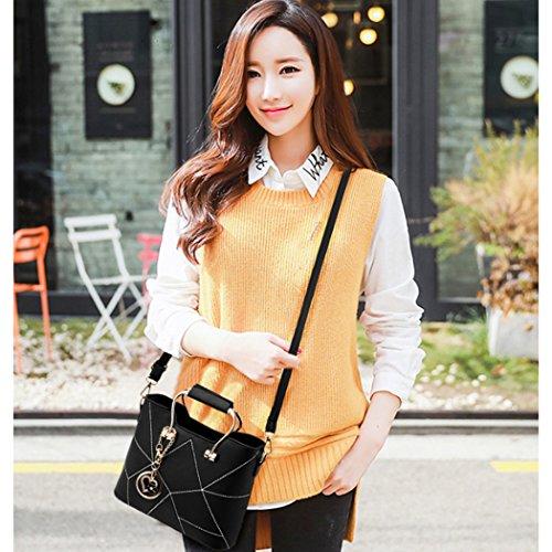 Shoulder Elegant Leather Faux New Crossbody Fashion Women Lady Handbag Bags Yellow Bags Europe New 0FqAXAwWx4