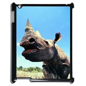 ALICASE Diy Cover Custom Case Rhinoceros For IPad 2,3,4 [Pattern-1] wangjiang maoyi