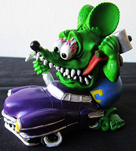 (Rat Fink Tools in Hand Purple Custom Hot Rod Collectible Figure)