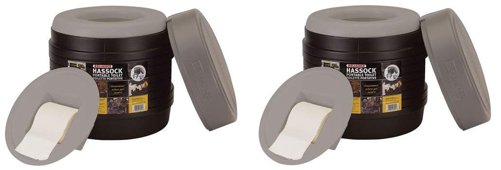 Reliance Products Hassock Portable Lightweight Self-Contained Toilet (Colors May Vary) (Pack of 2)