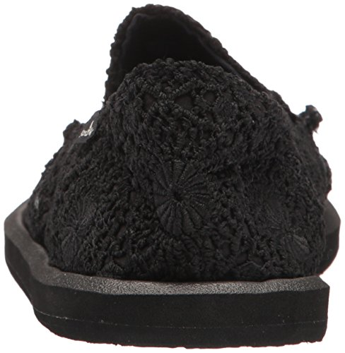 Black Women's Loafer Black Donna Crochet Sanuk Iw6ZZ